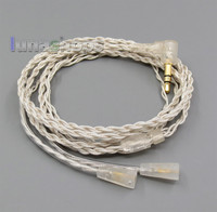 Silver Foil PU Skin Earphone Headphone Cable For NEW IE8 IE8I LN005316