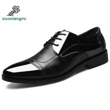цены Large Size 38-48 Dance Shoes Men Leather Pointed Wedding Shoes Jazz Latin Prom Shoes Ballroom Tango Dance Bureau Dress Shoes