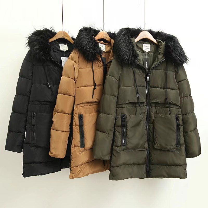 цены на 2017 Top Brand New Parkas Female Women Winter Coat Thickening Cotton Jacket Outwear Fashion Long Coat Warm High Quality в интернет-магазинах
