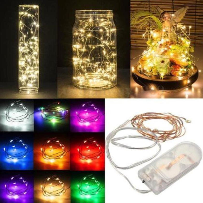 1PC 2M String Fairy Tale Light 20 LED Battery Operated Xmas Lights Party Wedding Lamp festive /shop windows decoration SEP20