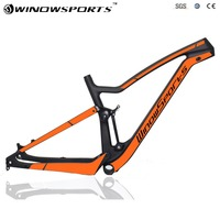 Full Suspension Carbon Mountain Bike XC MTB Frameset High quality 29/27.5er mtb frame UD matt thru axle 142*12 full suspension