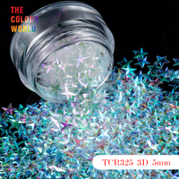 TCT 046 Star Shape 3D Effect Colorful Glitter 5MM Size For Nail Glitter Nail Art Decoration