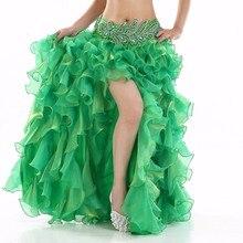 12 цветов, новинка, одежда для танца живота, длинные юбки макси для женщин, профессиональная юбка для танца живота в восточном стиле