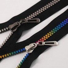 80cm NO.8# Resin Zippers metal zipper Slider Multi-color Teeth Separating down coat for DIY Sewing Crafts Coats Jacket