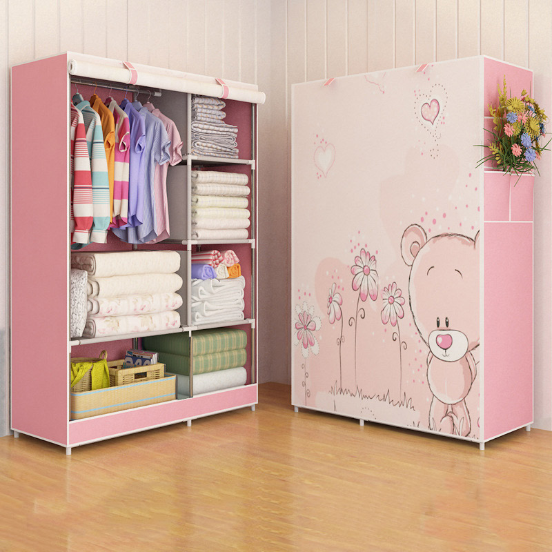 Image 3 - GIANTEX Cloth Wardrobe For clothes Fabric Folding Portable Closet Storage Cabinet Bedroom Home Furniture-in Wardrobes from Furniture