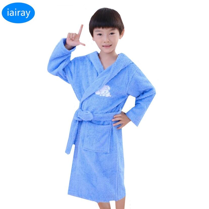 iAiRAY new 2018 children pajamas kids bathrobe poncho towel pyjamas boys sleepwear boy robe child roupao autumn nightwear robes noulei ballscrew support bk17 bf17 c3 linear guide screw ball screws end supports cnc