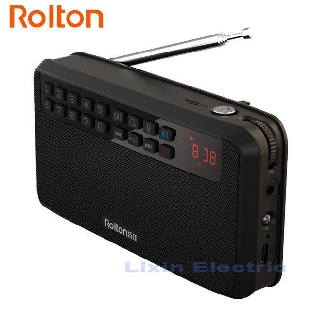 Rolton E500 haut-parleurs Bluetooth portables basse double piste haut-parleur Sport et stéréo Radio FM TF carte USB MP3 colonne et lampe de poche
