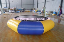 inflatable water trampoline, jumping water bouncer