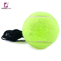 Fangcan Single Training Rebounce Tennis Ball Color Fluorescent Yellow With Round Elastic Black String