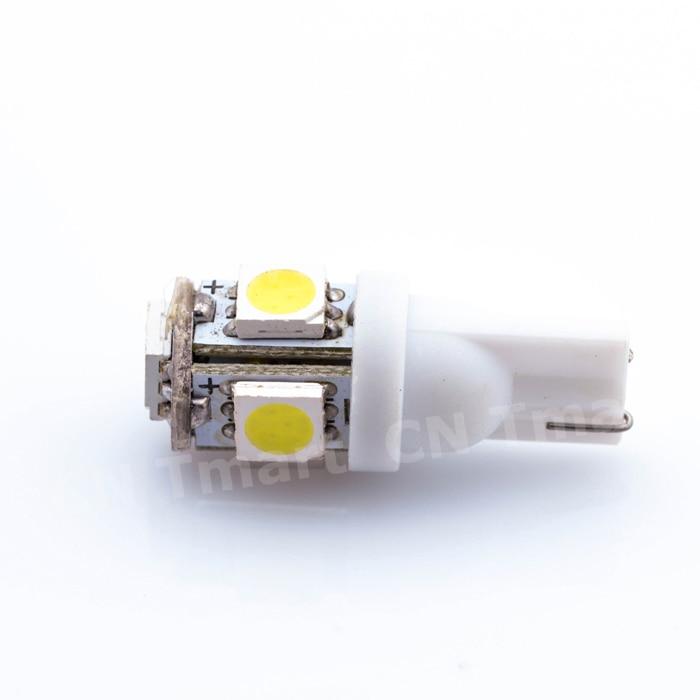 1x White 360 Degree 5050 SMD 168 194 2825 w5w T10 LED Car Led Light Bulbs For Parking led License Plate Lights moonbiffy hot 10pcs car interior light t10 wedge 5 smd 5050 xenon led light bulbs 192 168 194 w5w 2825 158 white