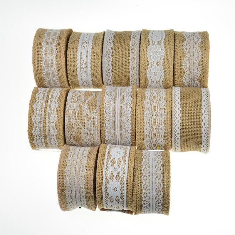 Natural Jute Burlap Ribbon Rustic Vintage Wedding Decor Lace Party Supplies DIY