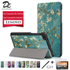 Dizha Magnetic Folding Print Cover Case For Lenovo Tab 7 Essential TB 7304F X Cover For