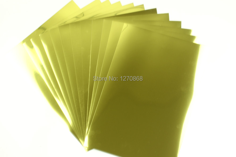 A4 50 pieces High Quality water proof inkjet glossy gold pet film