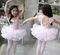 Lovely Girls Tutu Ballet Dance Dress For Children Cotton Gymnastics Leotard Dance Costumes Kids Ballerina Dancewear
