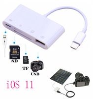 IOS 11 4 In 1 USB SD TF Card Memory Card Reader For IPad Air