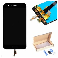 For Xiaomi Mi6 Lcd Display Touch Screen Fingerprint Digitizer Assembly Black White Blue Color Free Repaired
