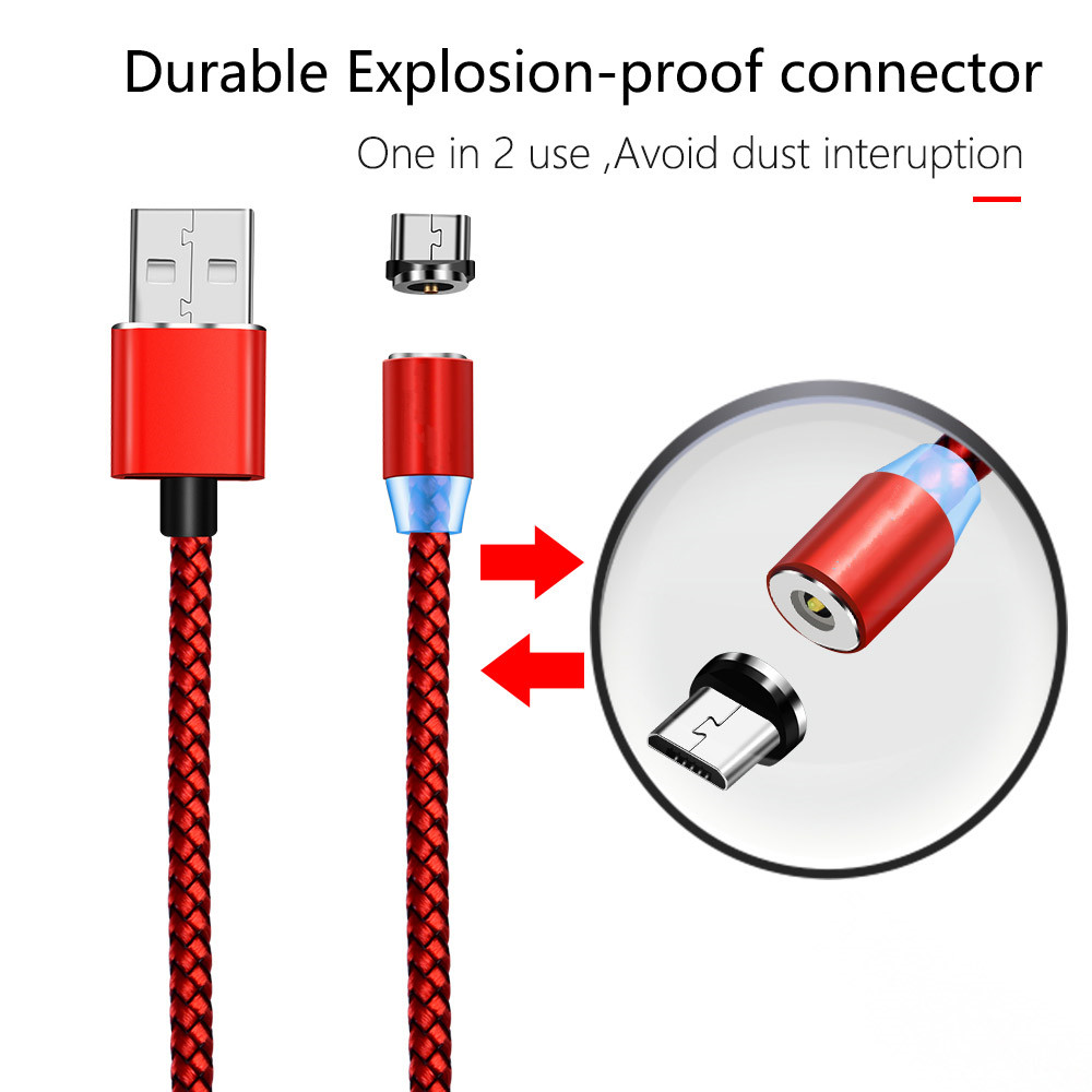 For Samsung A7 2018 A6 J4 J6 J7 Neo Huawei Honor 9 lite ZTE Blade V7 V8 cellphone QC 3.0 Fast charger + magnetic Micro USB Cable