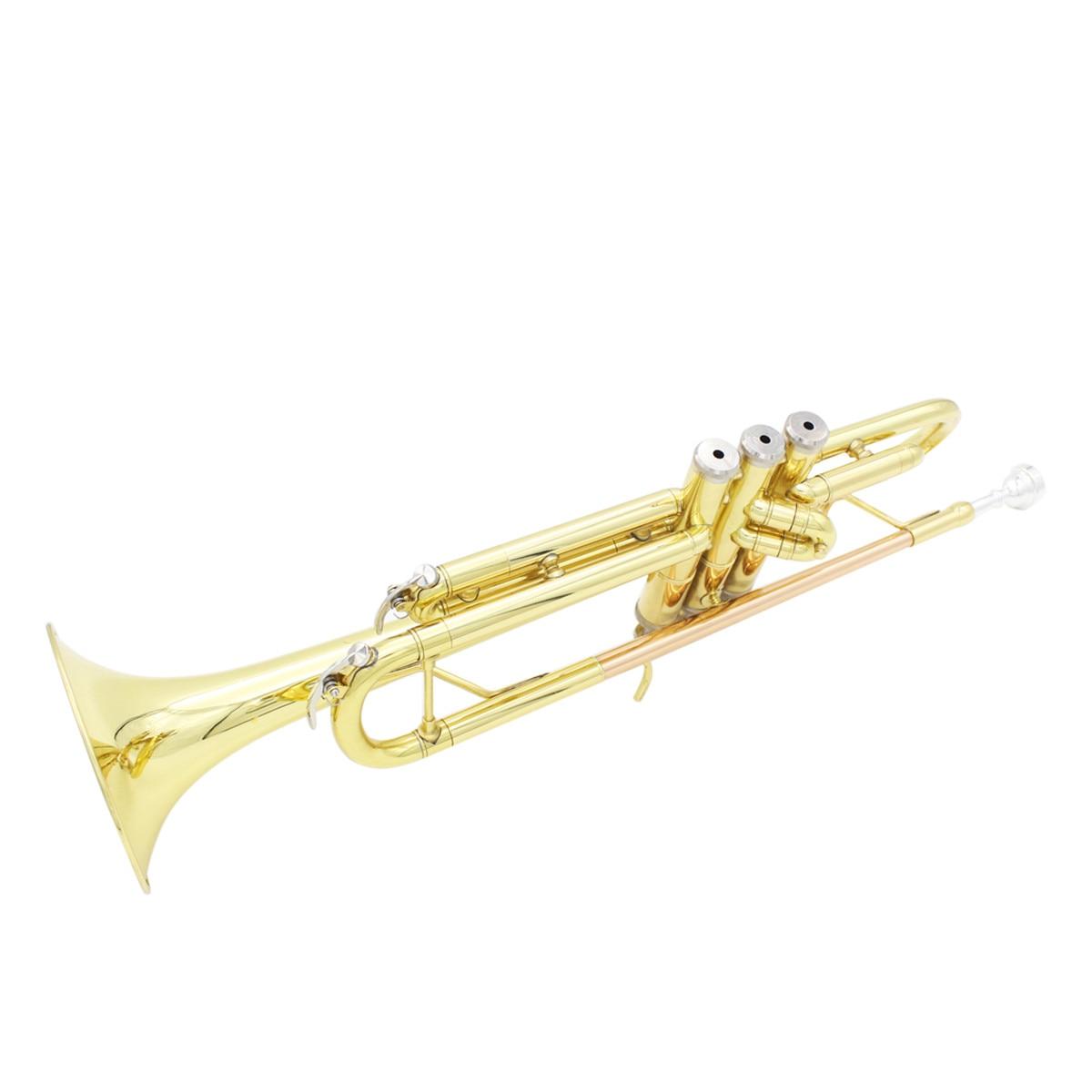 Профессиональные латунные Музыкальные инструменты труба с сумкой латунная Золотая труба цифровая Механическая сварочная труба музыка принимает - 4