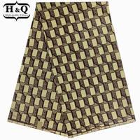 H&Q Fashion African 3D Printing Wax Fabric Super Hollandais Wax Fabric African Dutch Wax 6yds for Dress Garments