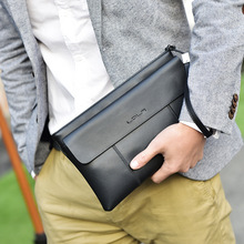 Luxury Brand 100% Genuine Leather Men Clutch Bag Fashion Handbag Cowhide Male Day Clutch Purse Wristlet Phone Wallet Card Holder