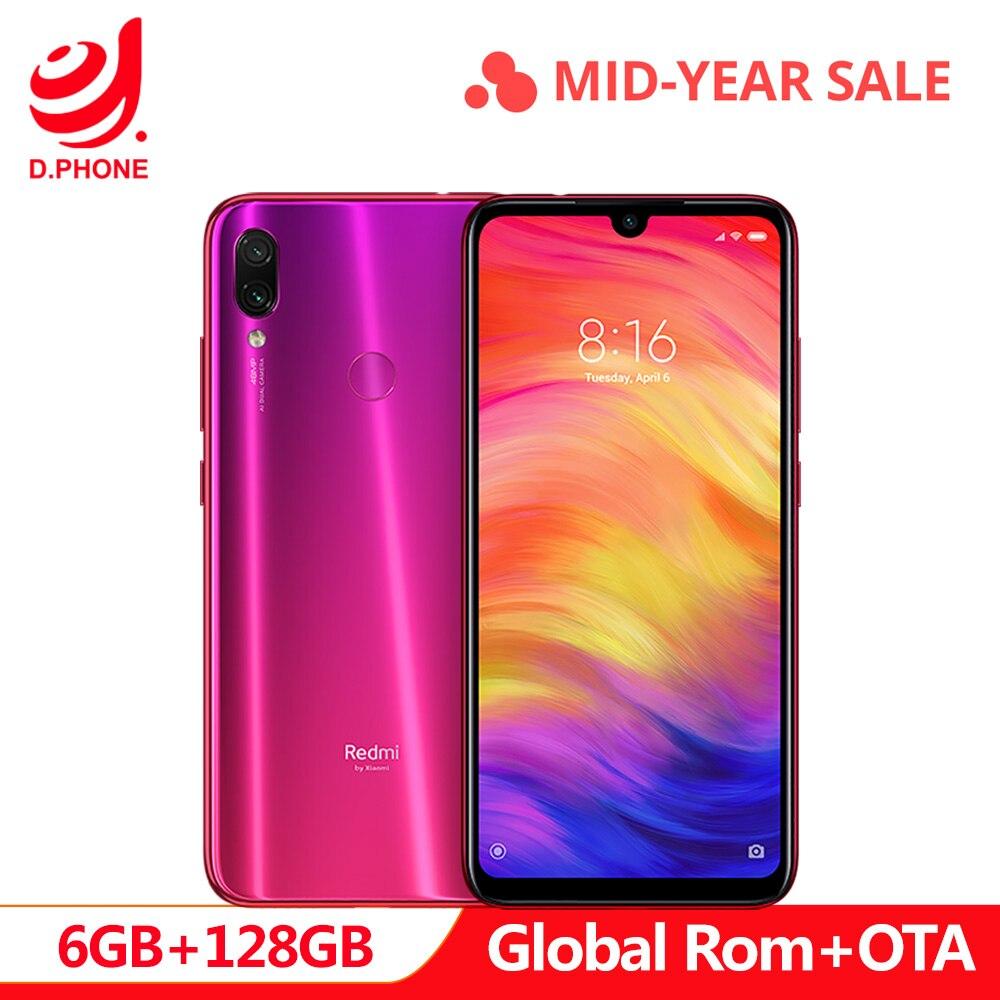 Global oficial Rom Xiaomi Redmi Nota 7 Pro 6 GB de RAM 128 GB ROM Núcleo octa Processador 48MP IMX586 Câmera 4000 mAh Smartphones