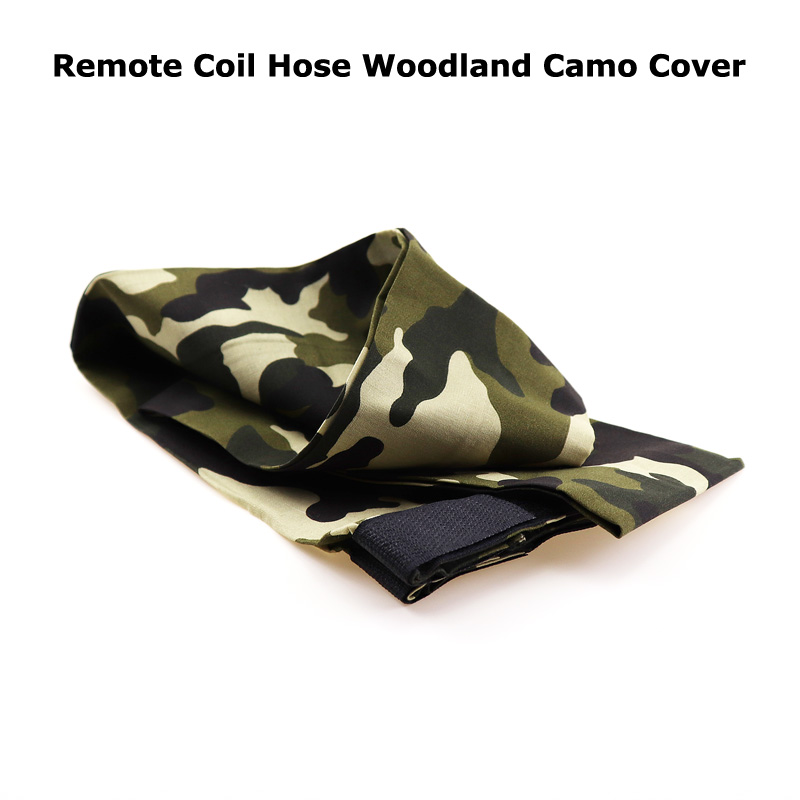 New  Paintball Air Gun Airsoft PCP Remote Coil Hose Line Woodland Camo Cover Accessory