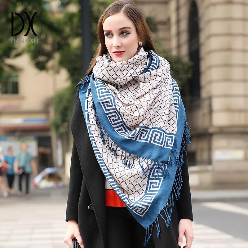 Mode Schals und Tücher Frauen Winter Schal Bandana Kaschmir Poncho Luxusmarke Desigual Wrap Wolle Schal Hijab Gesichtsschutz