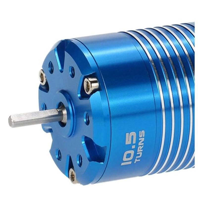 Nouvelle Haute Efficacité 540 Sensored Moteur Brushless pour 1/10 RC Voiture Bleu, 10.5 t 3450KV