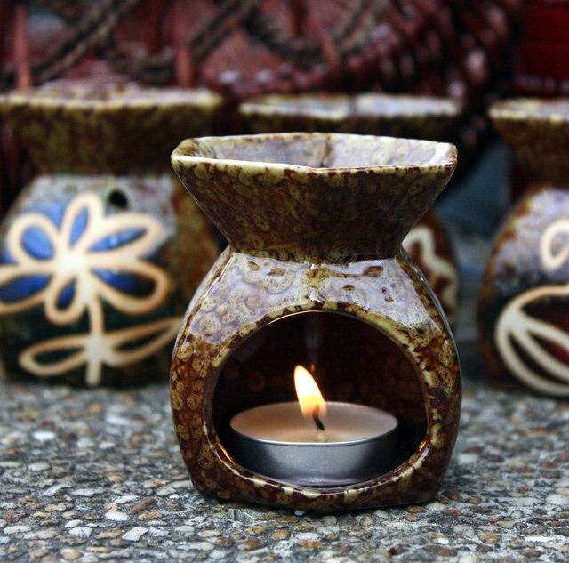 Thailand India Mini Vintage Essential Oil Diffuser Candle