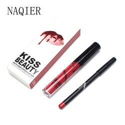 NAQIER Beauty Matte Liquid Lipstick Makeup Waterproof Long Lasting Moisturizer Lip Gloss KYLI Cosmetic Lip Kit