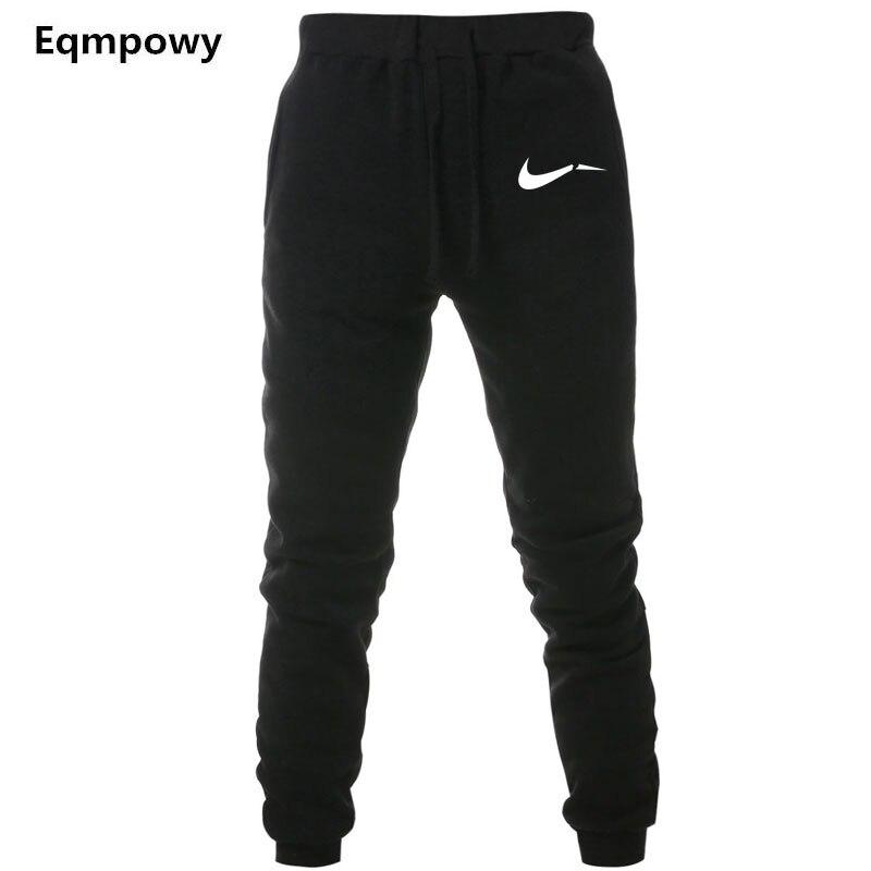 Men Print Logo Cotton Jogger Pants Spring Autumn Male Casual Elastic Fitness Baggy Trousers Mens Fleece Warm Winter Sweatpants