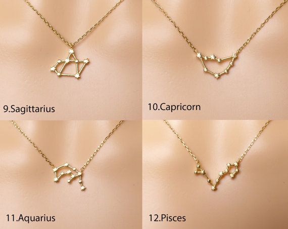 necklace rose constellation sign gold zodiac leo black image products