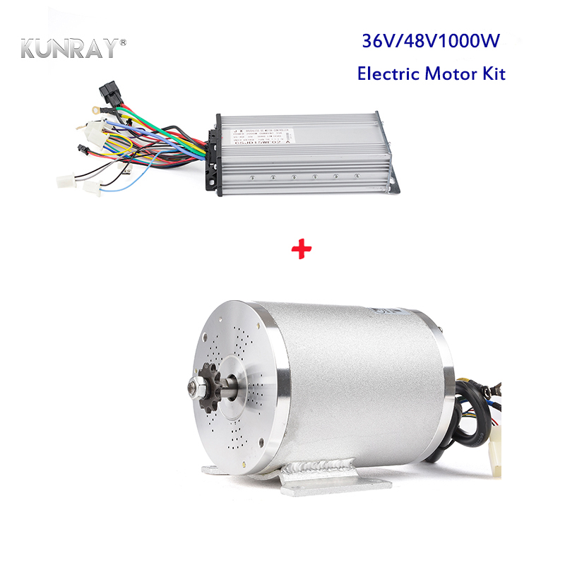 KUNRAY Electric Motor 36V 48V <font><b>1000W</b></font> DC Brushless High Speed Mid Drive Conversion Kit VAE <font><b>Quad</b></font> Tricycle Car Scooter E-Bike Moto image