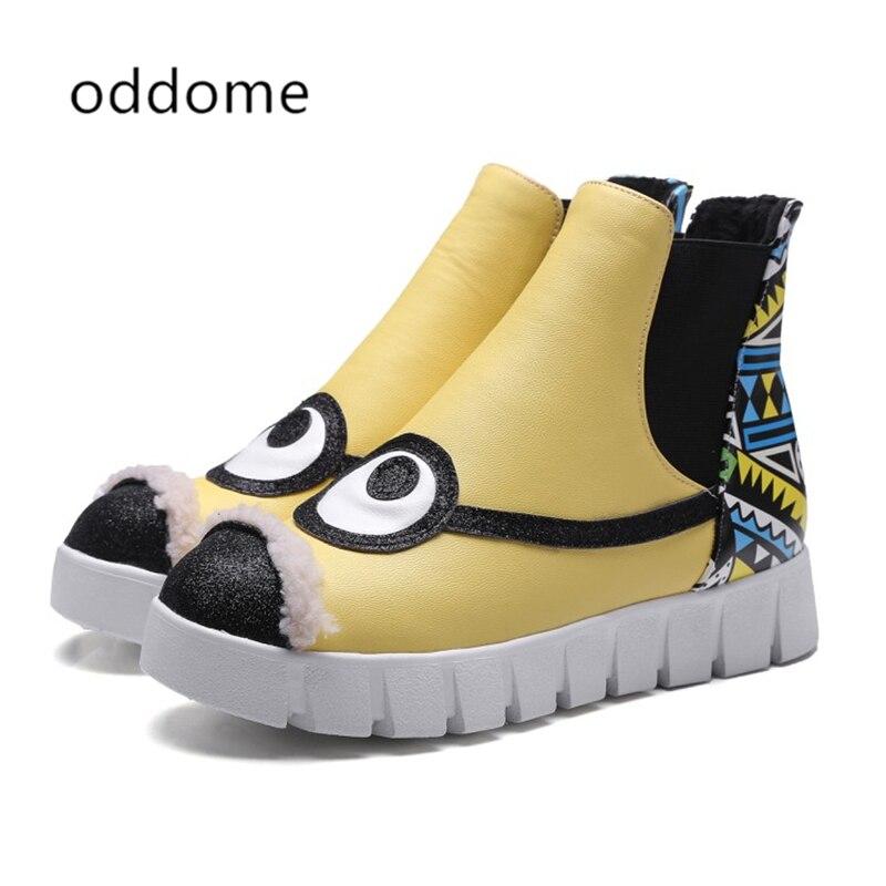 Chaussures Nouveau Dessin Femmes yellow Cheville Animé LUjMqVzpGS
