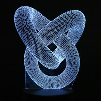 3D Optical Illusion LED Table Night Light USB Cable Battery Operated Desk Lamp Valentine S Day