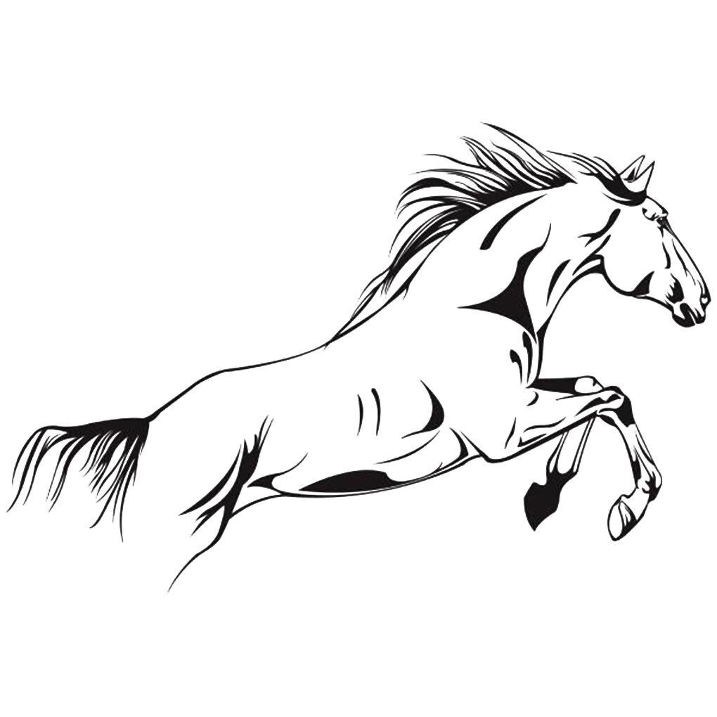 Concise PVC Black Running Horse Wall Sticker Removable Vinyl Art Mural Home  Decor Jump Horse Wallpaper