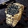 2018 AMUDA Quartz Watch Sport Men Gold Clock Montre Men S Digital Wristwatches Full Steel Alarm