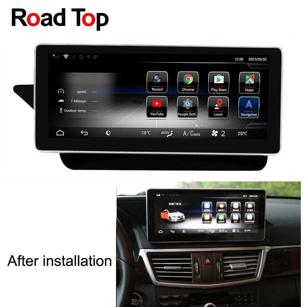 10.25 Android 7.1 Autoradio GPS Navigation Autoradio Bluetooth Écran pour Mercedes Benz 2009-2016 E200 E250 e300 E350 E400 E500
