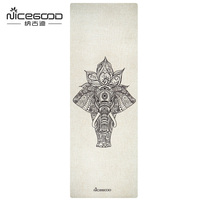 Organic Jute Yoga Mat Skid Resistant 4 5 Mm Thick Natural Rubber Pilates Mat Holy And