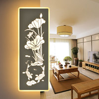 Modern LED Wall Lamps living room bedroom bedside lamp bracket light wall fitting dimming Chinese corridor wall light ZA830725