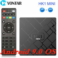 VONTAR 4K Smart TV BOX Android 9.0 HK1 MINI Media Player Rockchip RK3229 Quadcore 2GB 16GB H.265 Sep Top Box HK1MINI Android 8.1