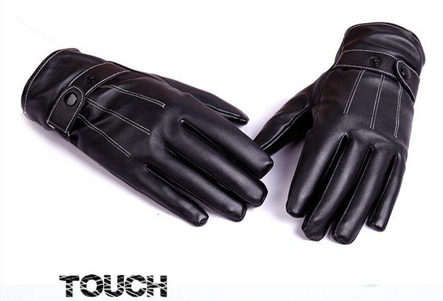 539a9c06461996 ROSICIL handschoen Goede kwaliteit handschoenen Mannelijke Mode lederen  handschoenen Vintage winter handschoenen mannen zwarte Weatherization in  ROSICIL ...