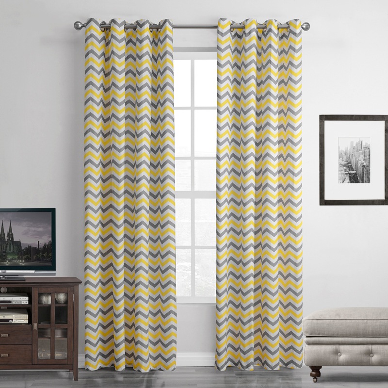 Sunnyrain 1 Piece Yellow Striped Abstract Translucidus