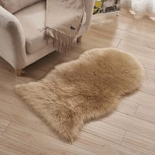 Irregular Soft Faux Sheepskin Fur Chair Couch Cover Seat Pad White Area Rug for Bedroom Floor Sofa Living Room Tatami Mats(China)