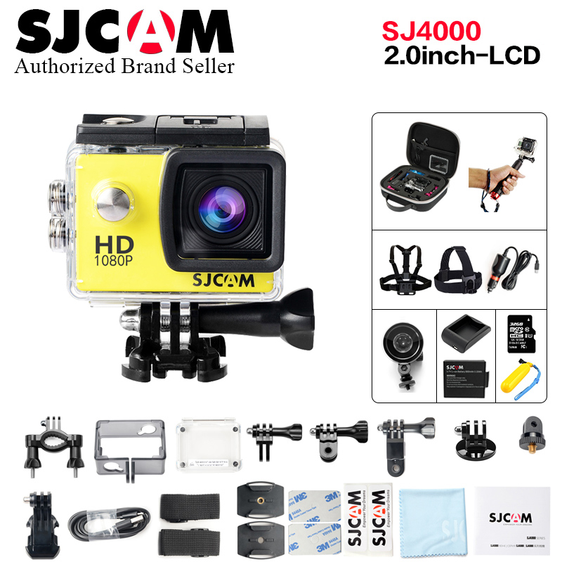 2018 Cheap !!Original SJCAM SJ4000 Full HD 1080P Diving 30M Waterproof Action Camera Sport DVR better go pro hero 5 cam 2017 arrival original eken action camera h9 h9r 4k sport camera with remote hd wifi 1080p 30fps go waterproof pro actoin cam