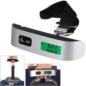Image 5 - 50kg x 10g Digitale Gepäck Skala Tragbare Elektronische Waage Gewicht Balance koffer Reise Hängen Steelyard Haken skala