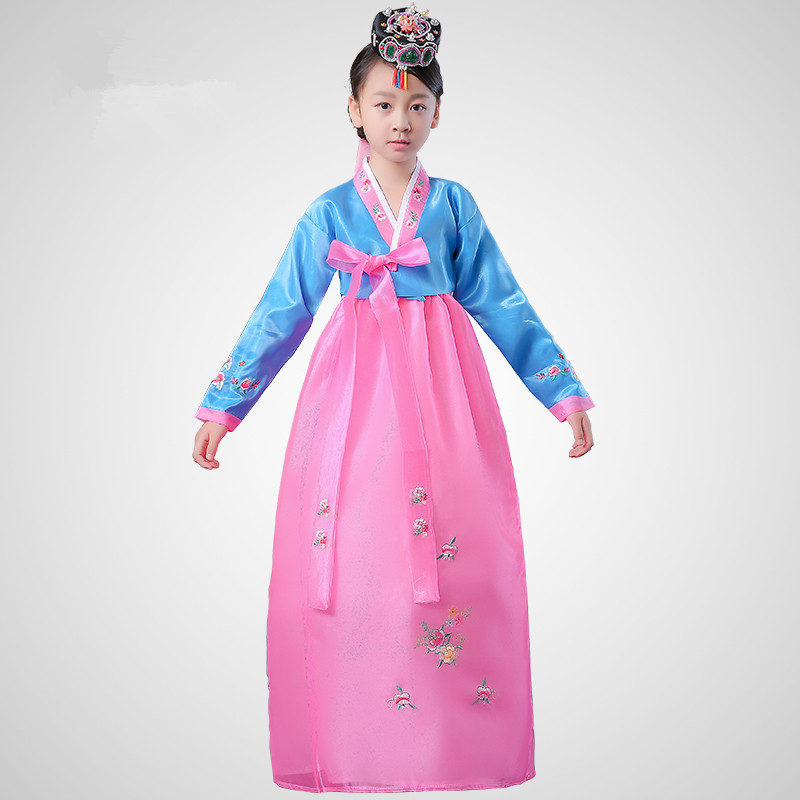 child embroidered korean traditional dress ethnic