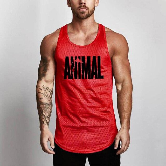 Summer Brand Fitness Tank Top Men Bodybuilding 2021 Gyms Clothing Fitness Men Shirt slim fit Vests Mesh Singlets Muscle Tops 6