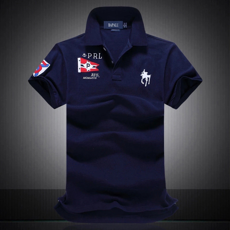 2019 New Brand   Polo   Shirt Short Sleeve jerseys Summer Mens   polo   Shirts Pure Cotton big horse logo   polos   for man