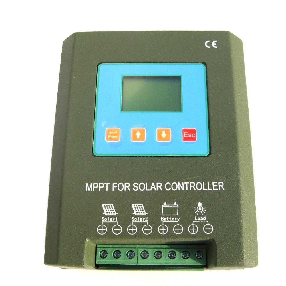 40A 24 в MPPT панели солнечные мощность Контроллер заряда Регулятор ЖК дисплей защиты